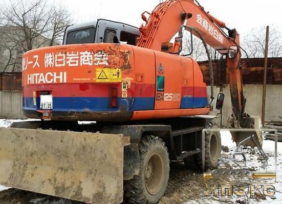 Экскаватор колесный Hitachi EX 125 WD-5 - ЯпЭкс - Реализация Японской спецтехники на российском рынке. Покупка с аукционов Японии под Ваш заказ.