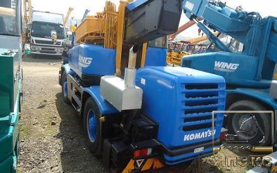 Кран самоходный. Komatsu LW100-1 10тонн синий - ЯпЭкс - Реализация Японской спецтехники на российском рынке. Покупка с аукционов Японии под Ваш заказ.