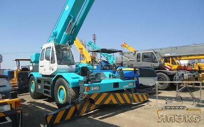 Кран Kobelco RK350, 35тонн зеленый - ЯпЭкс - Реализация Японской спецтехники на российском рынке. Покупка с аукционов Японии под Ваш заказ.